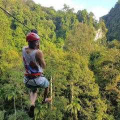 Zip Lining, Rock Climbing and Waterfall Park